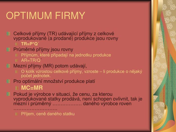 OPTIMUM FIRMY