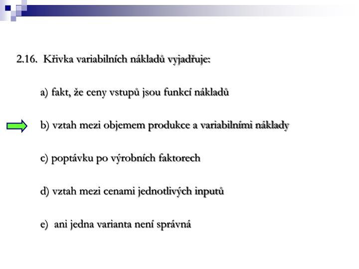 2.16.  Kivka variabilnch nklad vyjaduje: