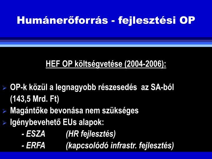 Humnerforrs - fejlesztsi OP
