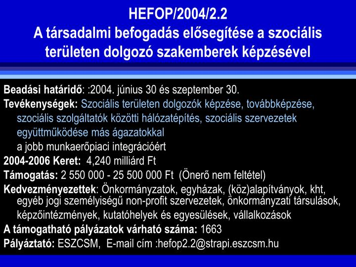 HEFOP/2004/2.2