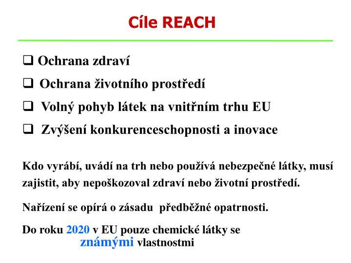 Cíle REACH