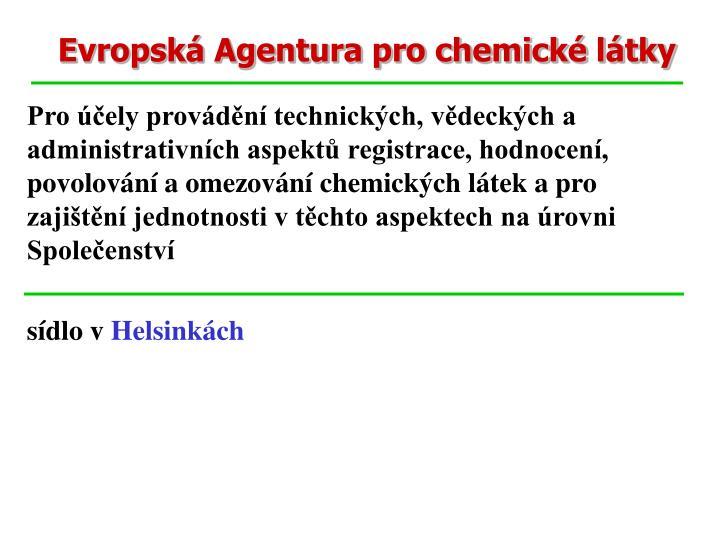 Evropská Agentura pro chemické látky