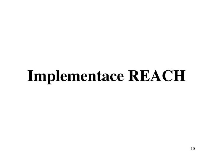 Implementace REACH