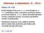 informace o vlastnostech 10 100 t r