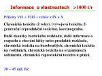 informace o vlastnostech 1000 t r