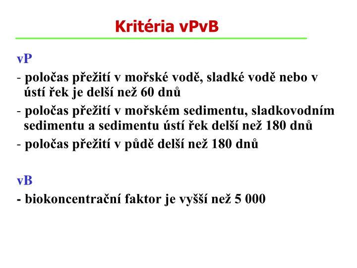 Kritéria vPvB