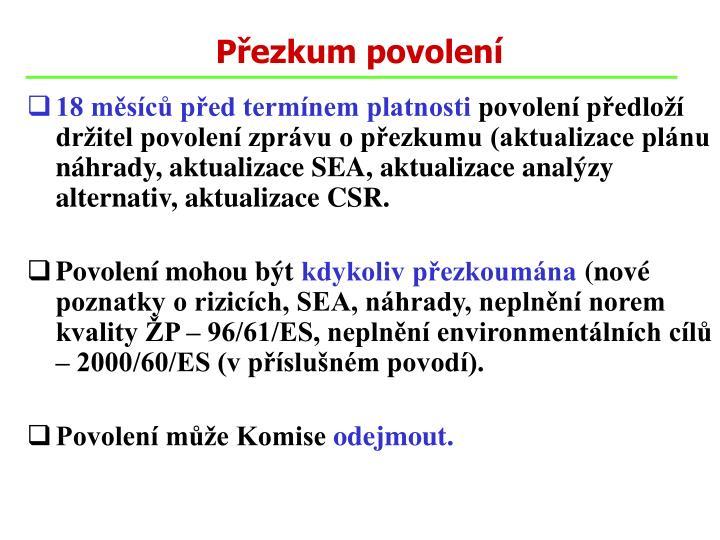 Přezkum povolení