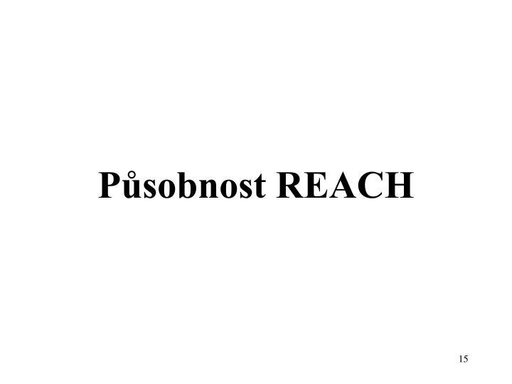 Působnost REACH