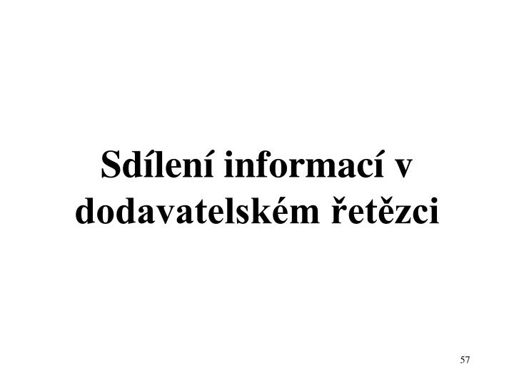 Sdílení informací v dodavatelském řetězci
