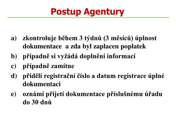 Postup Agentury