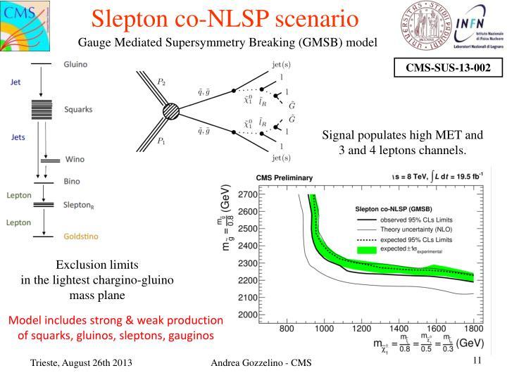 Slepton co-NLSP scenario