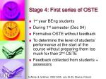 stage 4 first series of oste