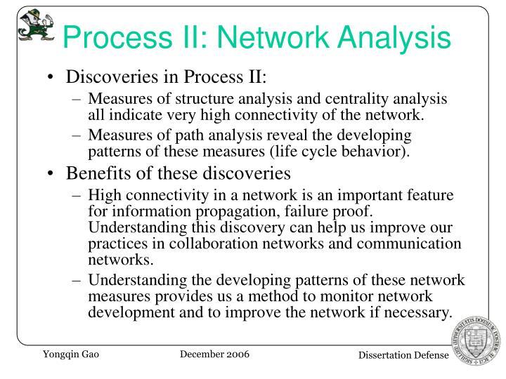 Process II: Network Analysis