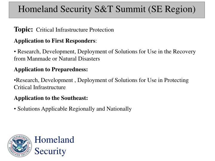 Theoretical and Conceptual Knowledge of the Department of Homeland Security