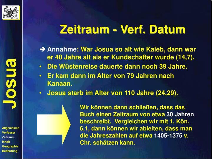 Zeitraum - Verf. Datum