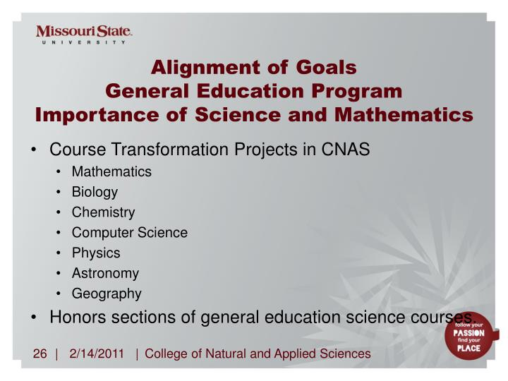 Alignment of Goals