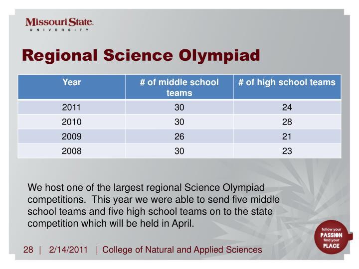 Regional Science Olympiad