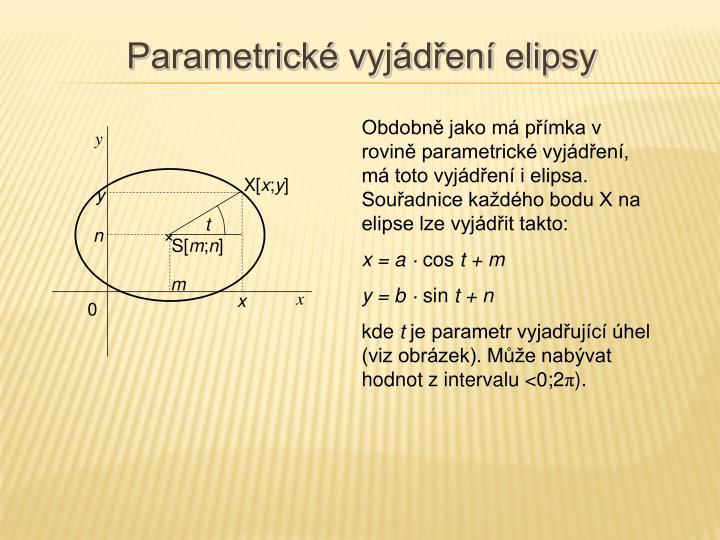 Parametrické vyjádření elipsy