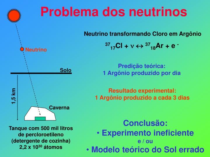 Neutrino transformando Cloro em Argônio