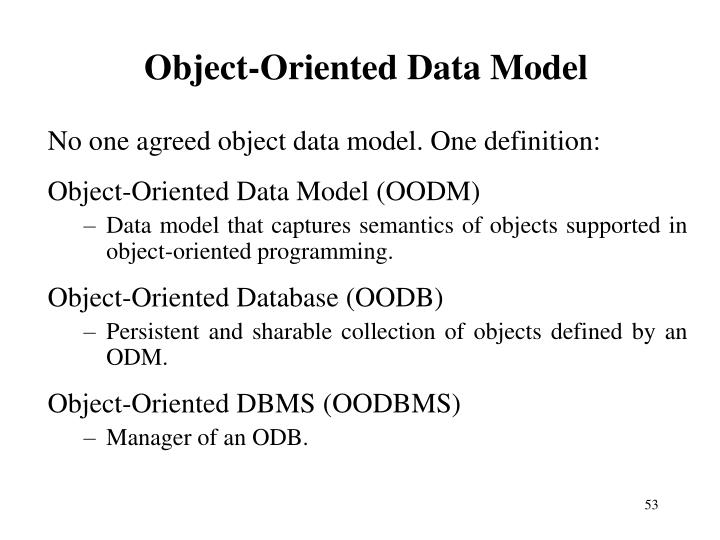 Object-Oriented Data Model