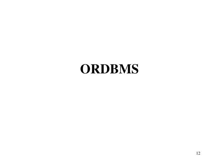 ORDBMS