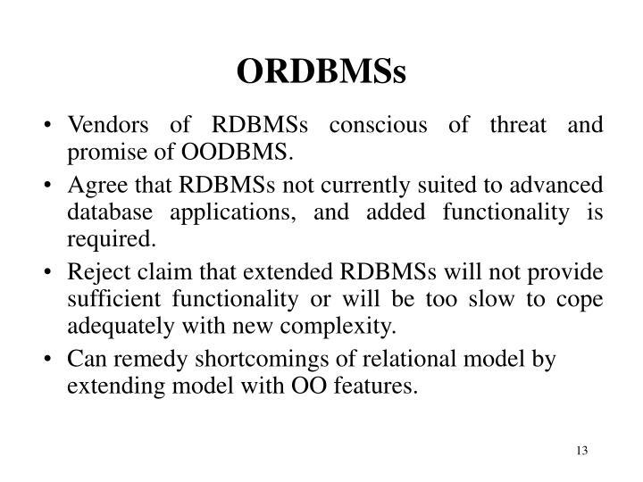 ORDBMSs