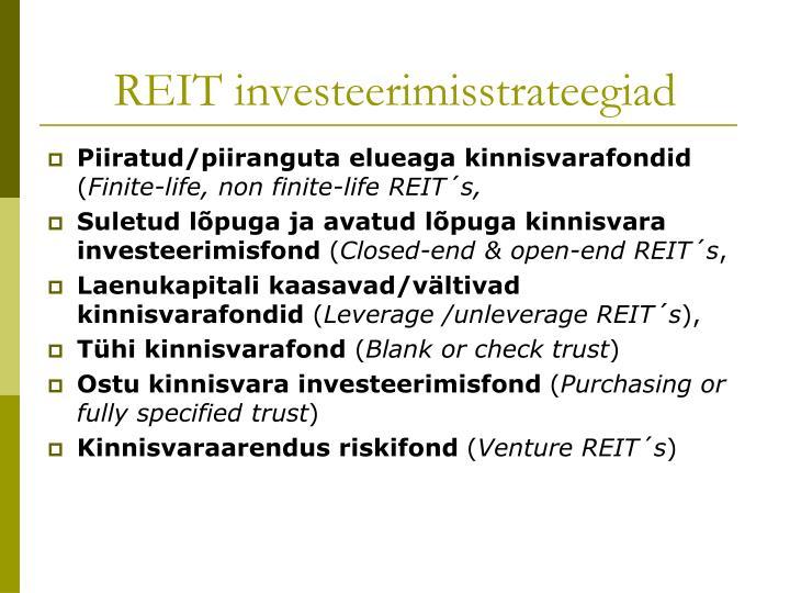 REIT investeerimisstrateegiad
