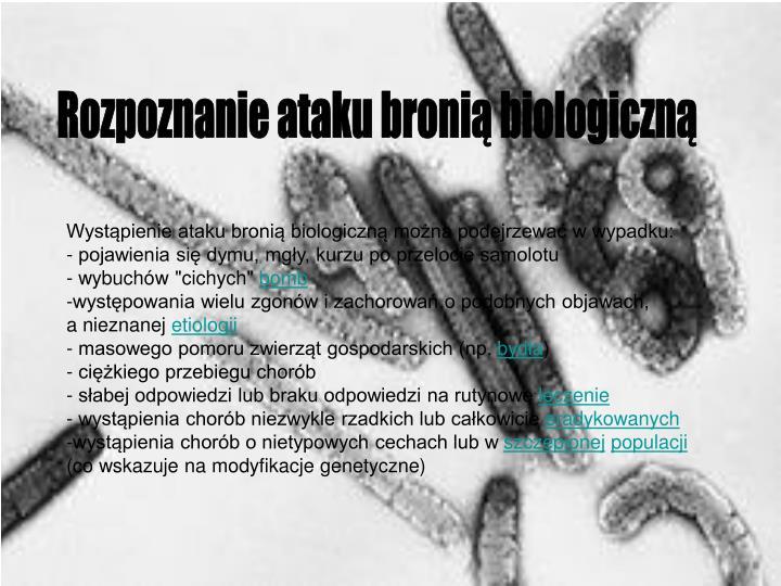 Rozpoznanie ataku bronią biologiczną