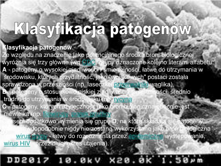 Klasyfikacja patogenów