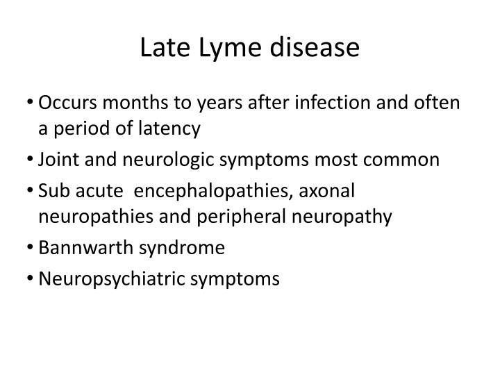 Late Lyme disease