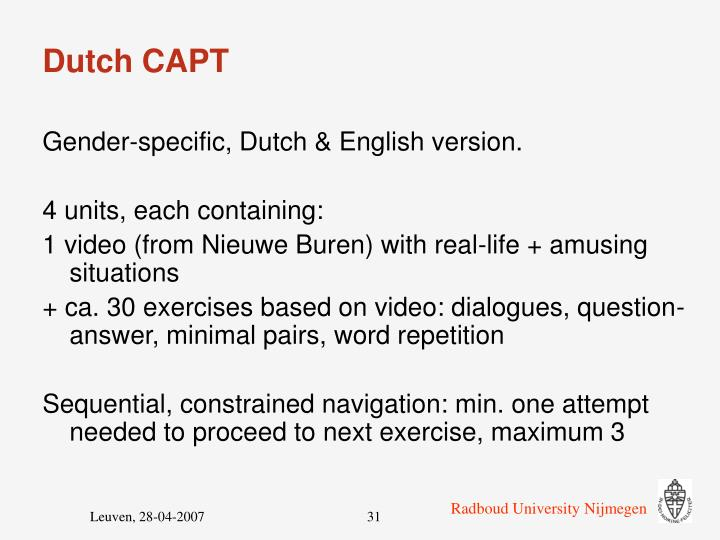 Dutch CAPT