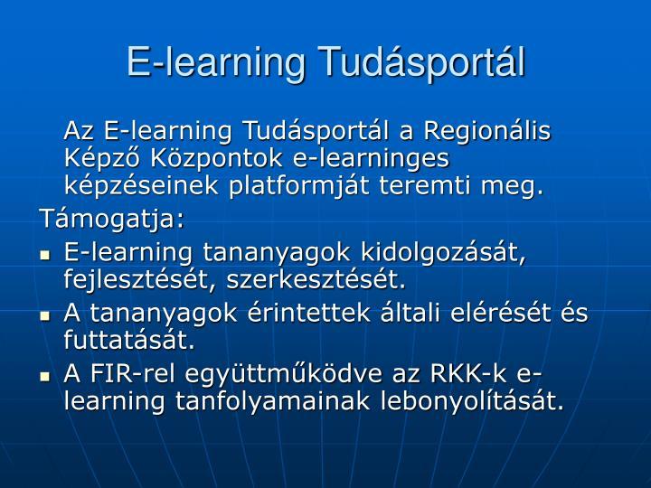 E-learning Tudásportál