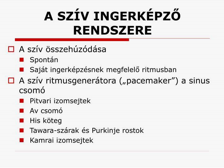 A SZÍV INGERKÉPZŐ