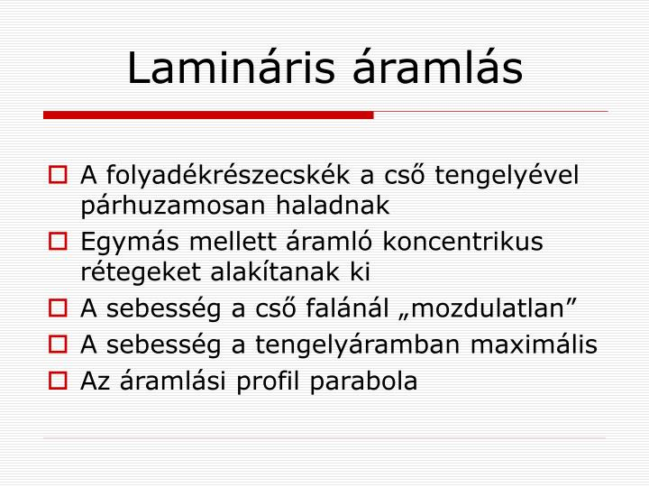 Lamináris áramlás