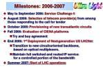 milestones 2006 2007
