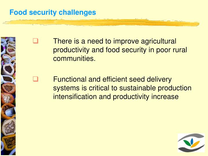 Food security challenges