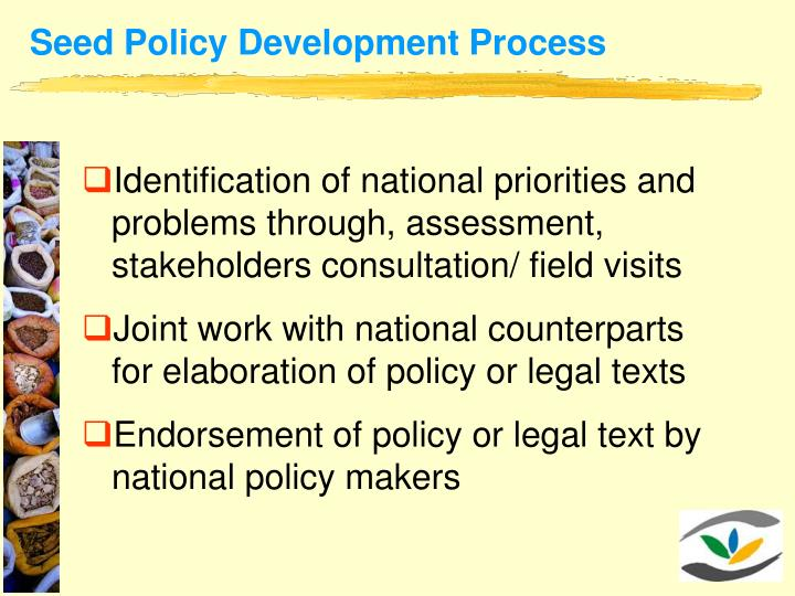 Seed Policy Development Process