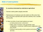state of seed systems1