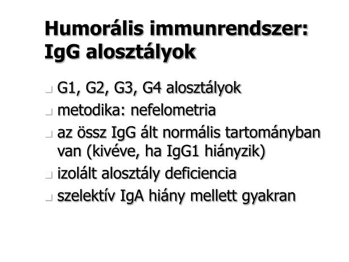Humorális immunrendszer: