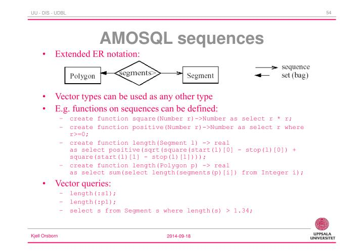 AMOSQL sequences
