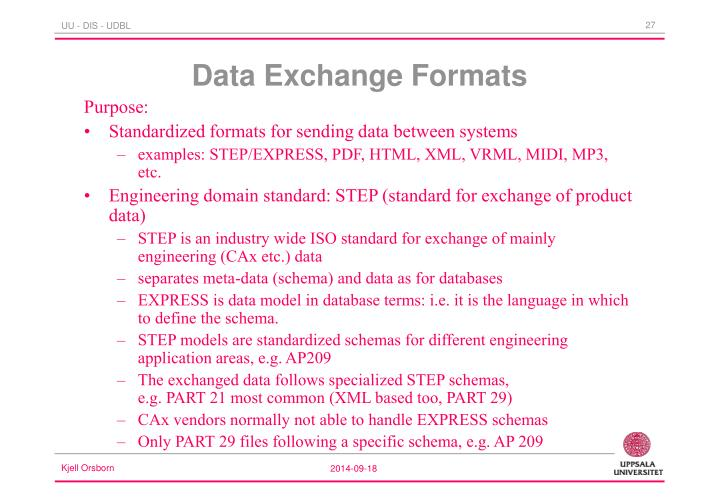 Data Exchange Formats