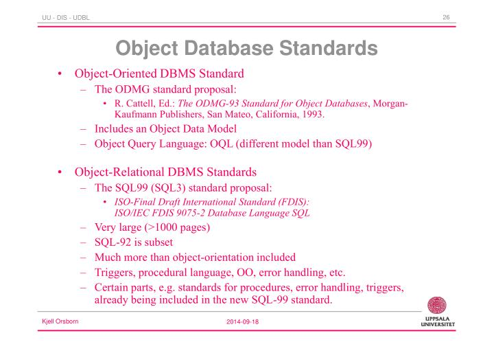 Object Database Standards