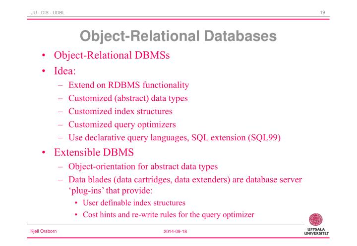 Object-Relational DBMSs