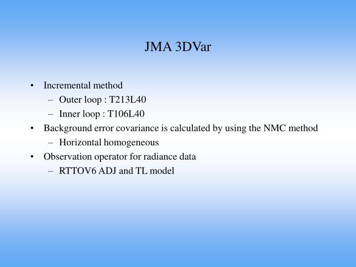 JMA 3DVar