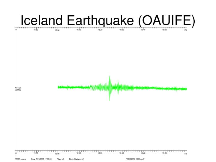 Iceland Earthquake (OAUIFE)