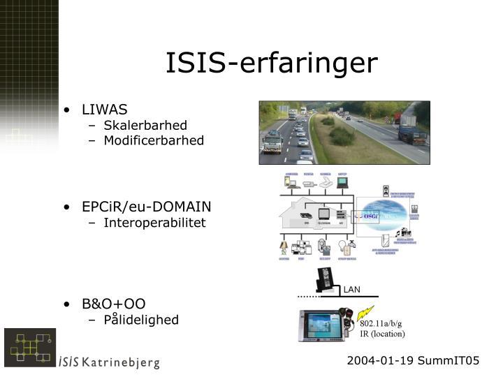 ISIS-erfaringer