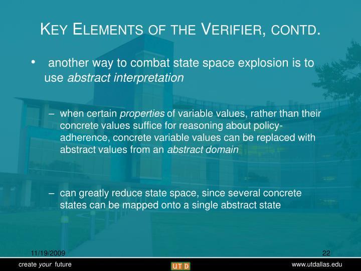 Key Elements of the Verifier, contd.