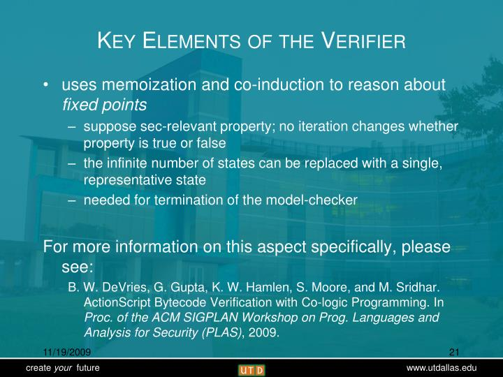 Key Elements of the Verifier