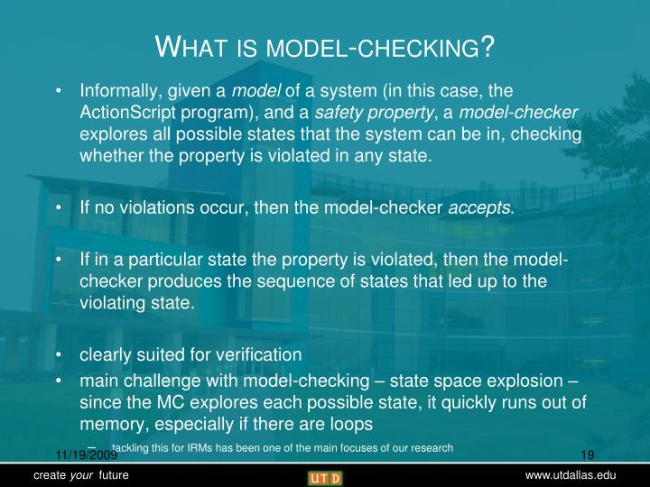 What is model-checking?