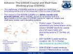 advance the godae coastal and shelf seas working group csswg
